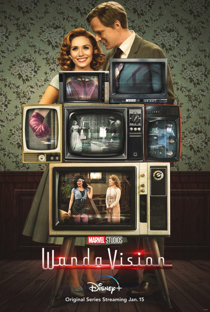 WandaVision poster feat Wanda and Vision